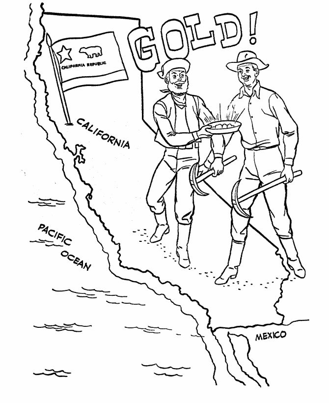 670x820 Gold Rush Coloring Pages Mining Color Pages Gold Rush