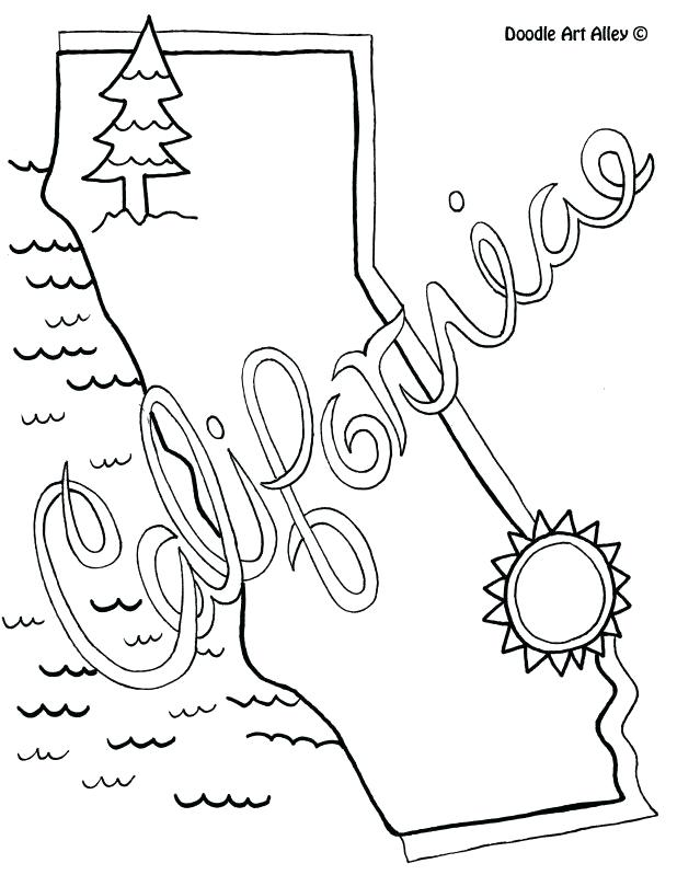 618x799 California Coloring Pages Coloring Pages With Flag Coloring Page