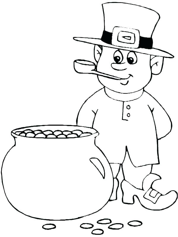 600x799 Gold Coloring Pages Pot Gold Coloring Page Rainbow And Pot