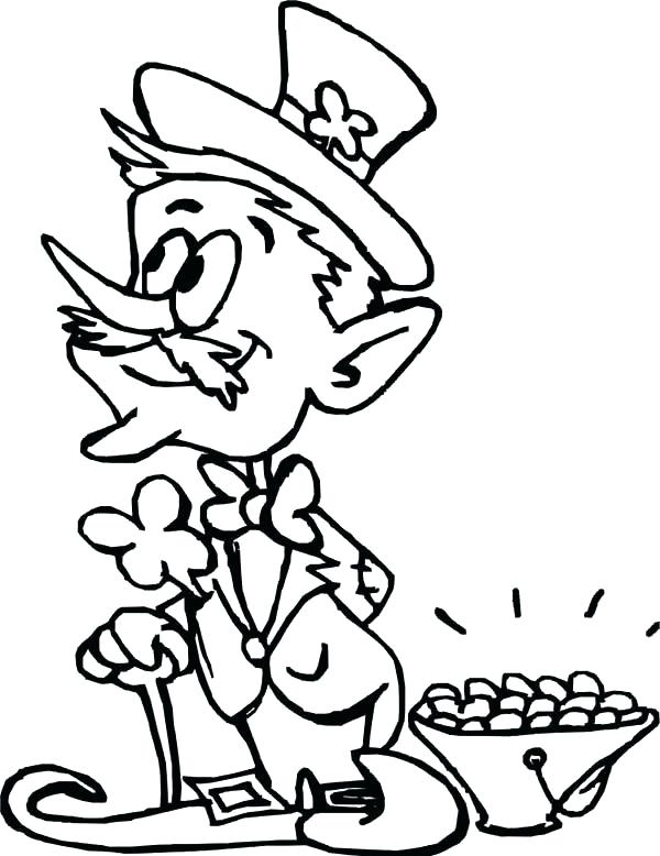 600x778 Gold Coloring Pages Rainbow And Pot Of Gold Coloring Page For Kids