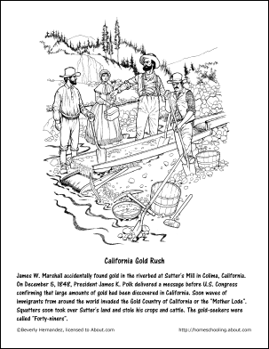 303x392 Learn About California With Free Printable Workheets Gold Rush
