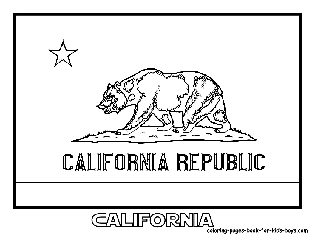 1056x816 California Coloring Pages Unique California State Flag Coloring