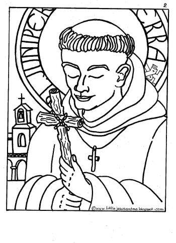 350x484 Bl Serra July Catholic Coloring Sheets