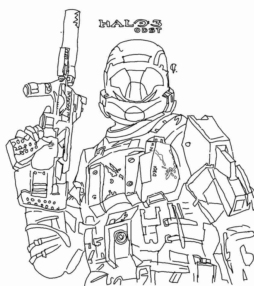 843x948 Halo Reach Coloring Pages To Print Call Of Duty Black Ops Sheets