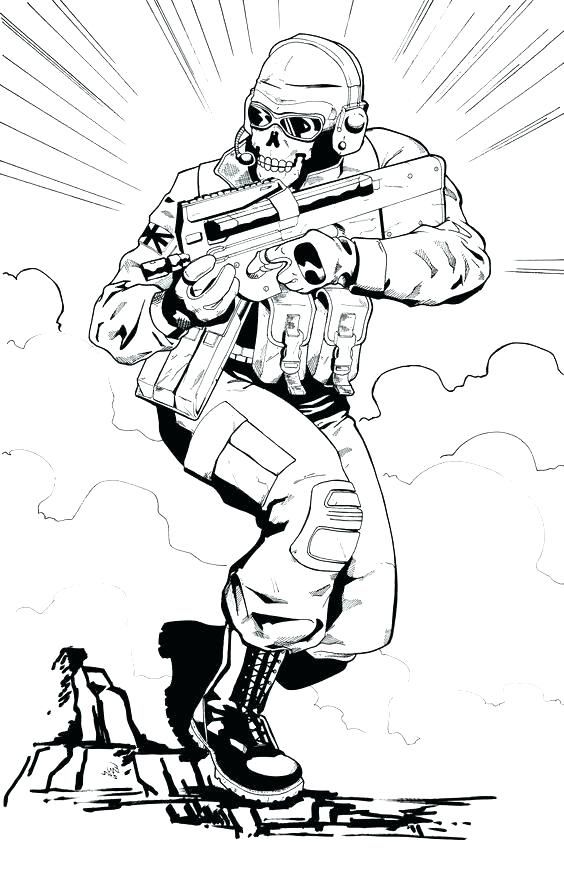 Call Of Duty Coloring Pages To Print At Getdrawings Com Free For
