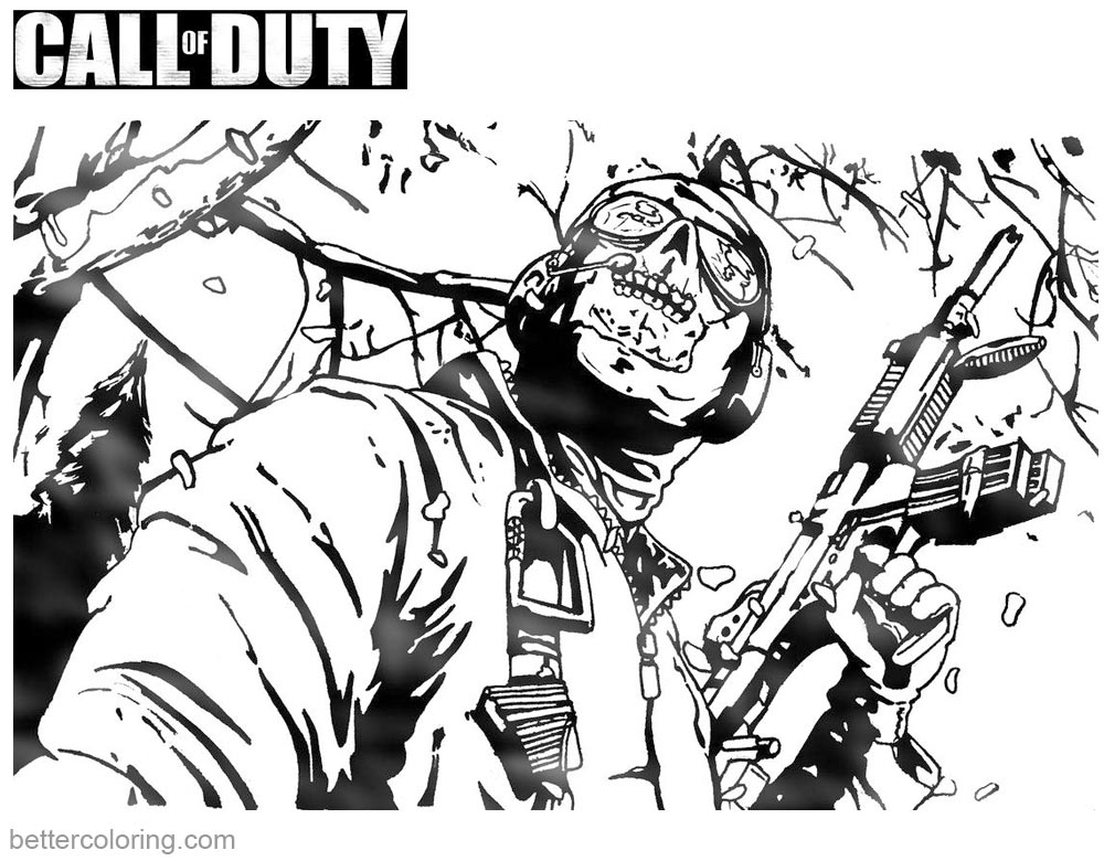 1000x780 Call Of Duty Coloring Pages Black Ops