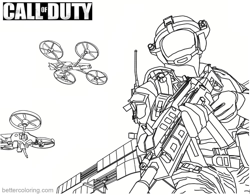 1000x780 Call Of Duty Coloring Pages Mq Stunt Drone