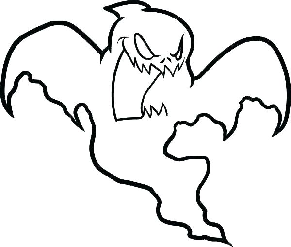 600x508 Ghosts Coloring Pages