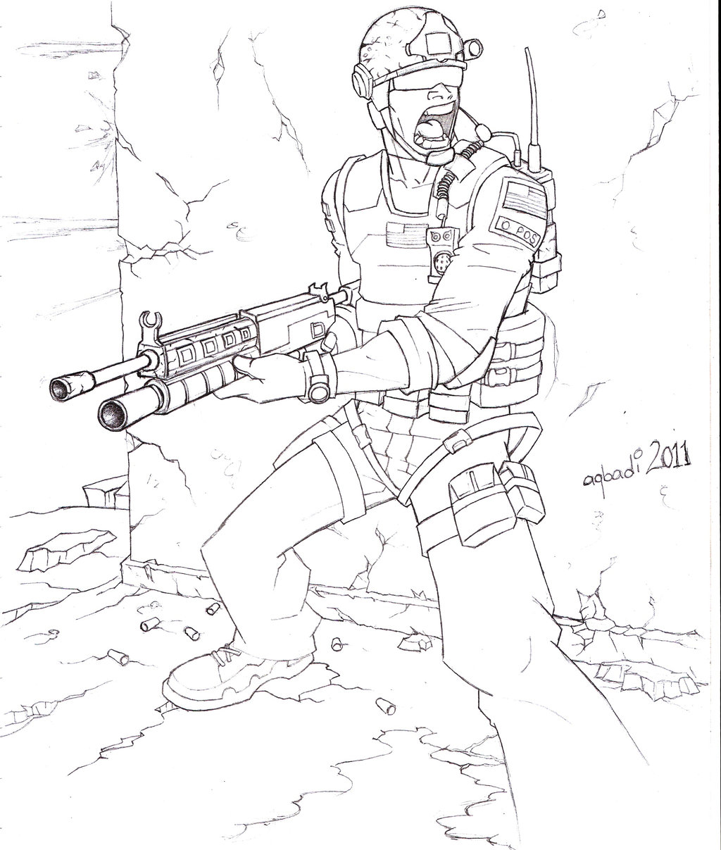 1024x1207 Call Of Duty Coloring Pages