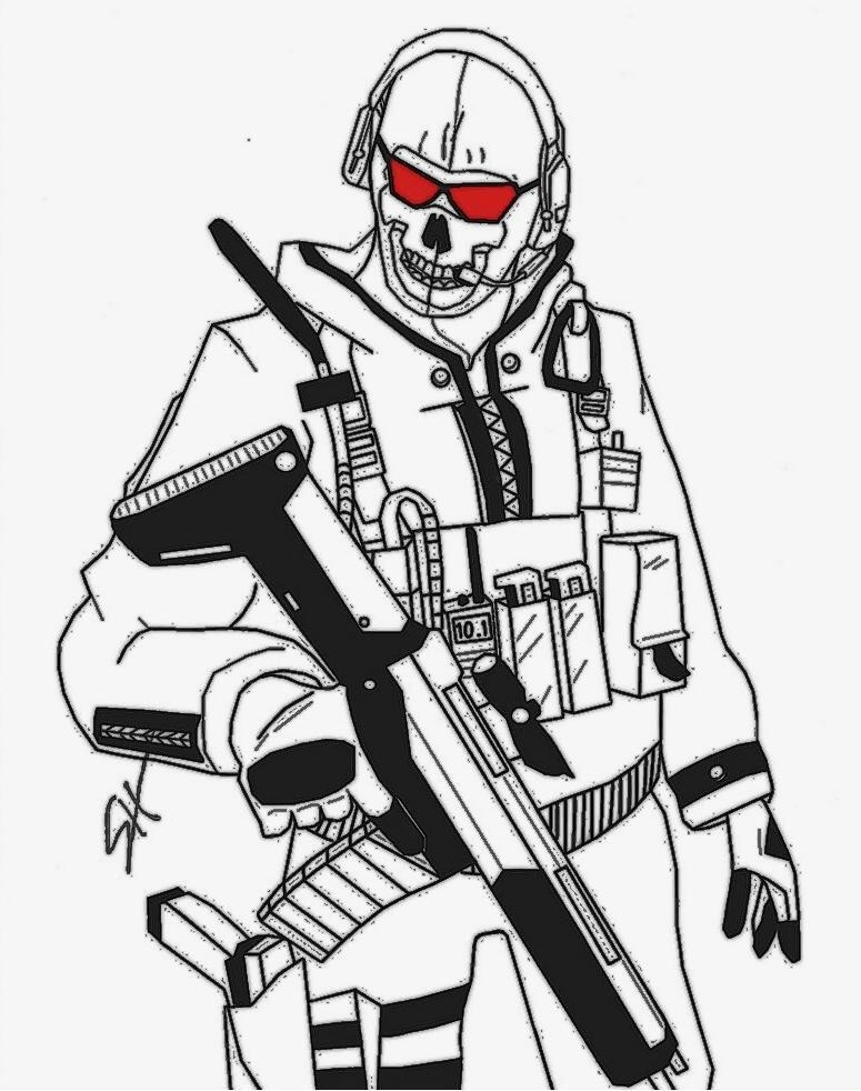 775x982 Call Of Duty Coloring Pages Call Of Duty Ghosts Coloring Pages