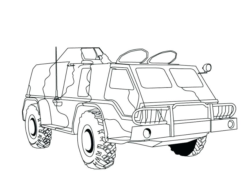 863x668 Call Of Duty Printable Coloring Pages Military Truck Black Ops