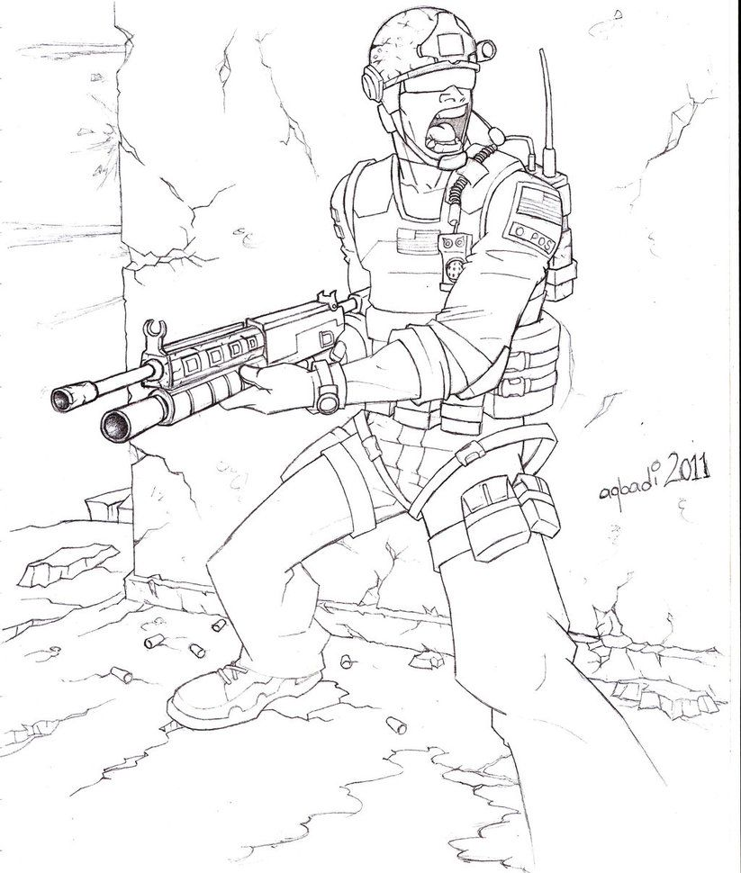 823x970 Call Of Duty Coloring Pages