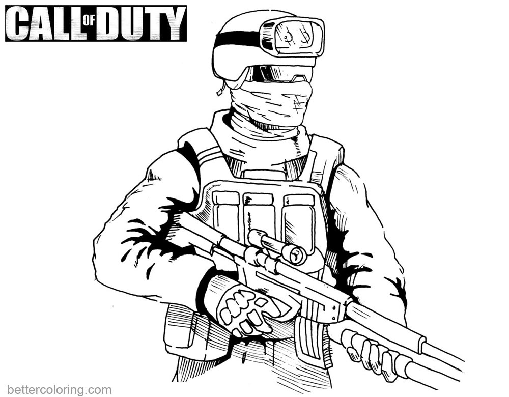 1000x780 Call Of Duty Coloring Pages Drawing