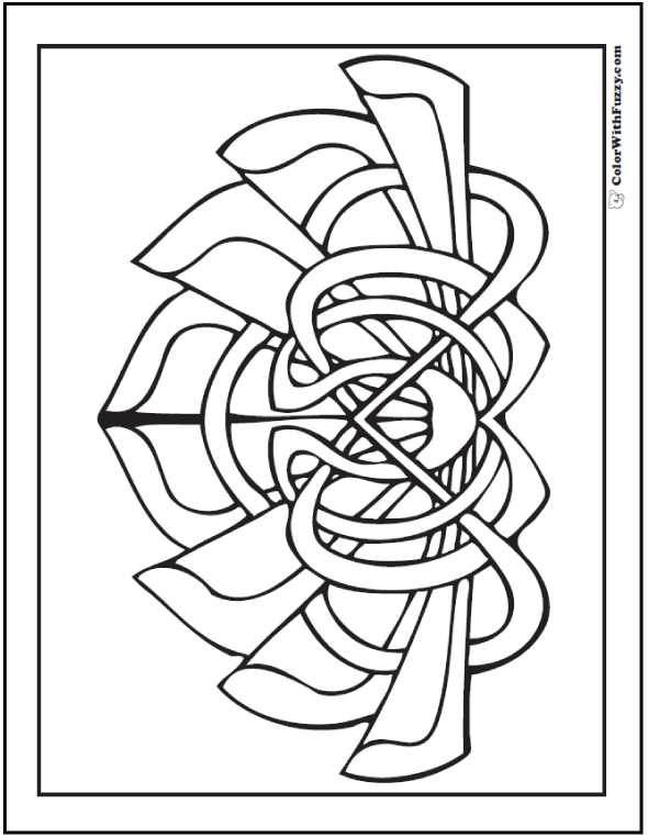 590x762 Printable Celtic Coloring Page Celtic Calla Lily Lotus
