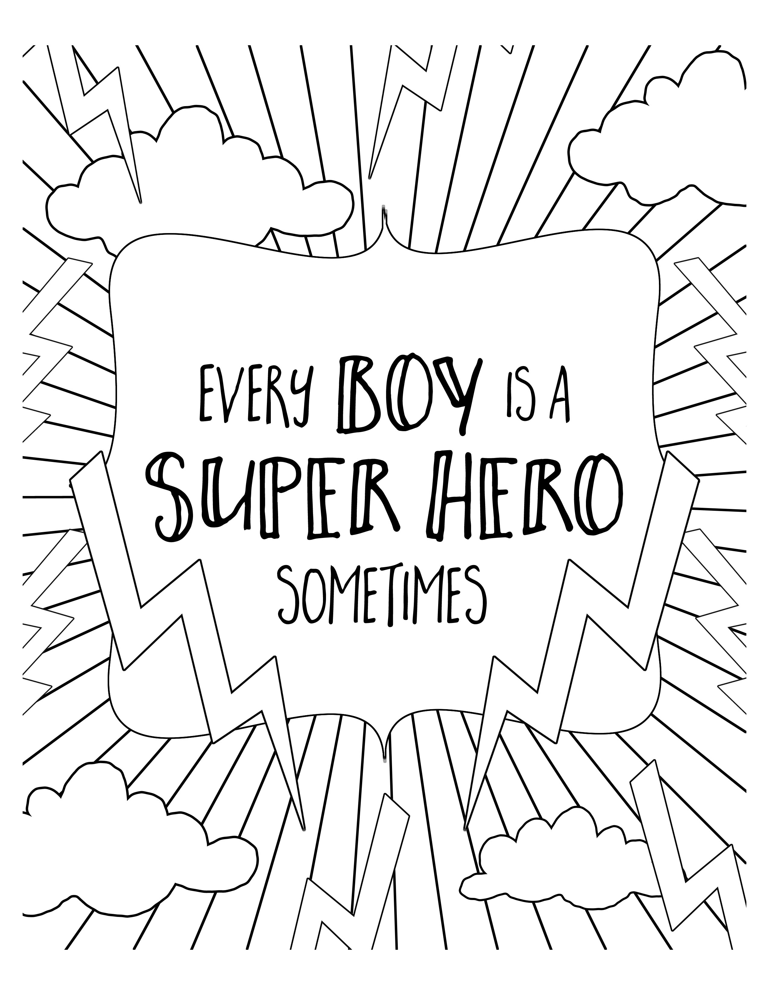 2550x3300 Free Super Hero Coloring Pages