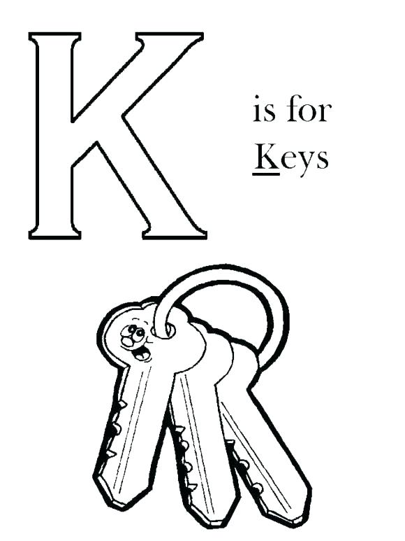580x773 K Coloring Page Letter K Calligraphy Coloring Page Coloring Pages