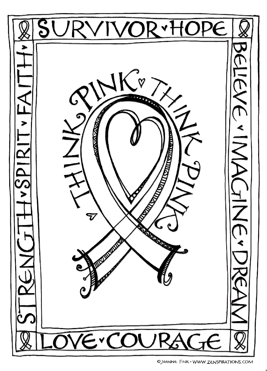 897x1243 Think Pink! Free Downloadable Coloring Pages!