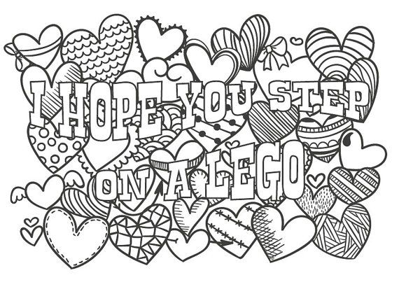 570x403 Cute Insult Calming Coloring Page With Ornaments