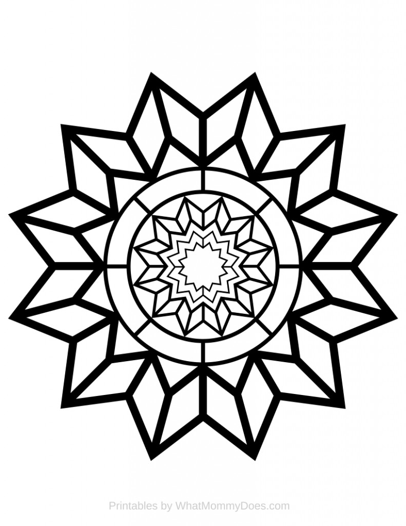 791x1024 Free Printable Adult Coloring Page