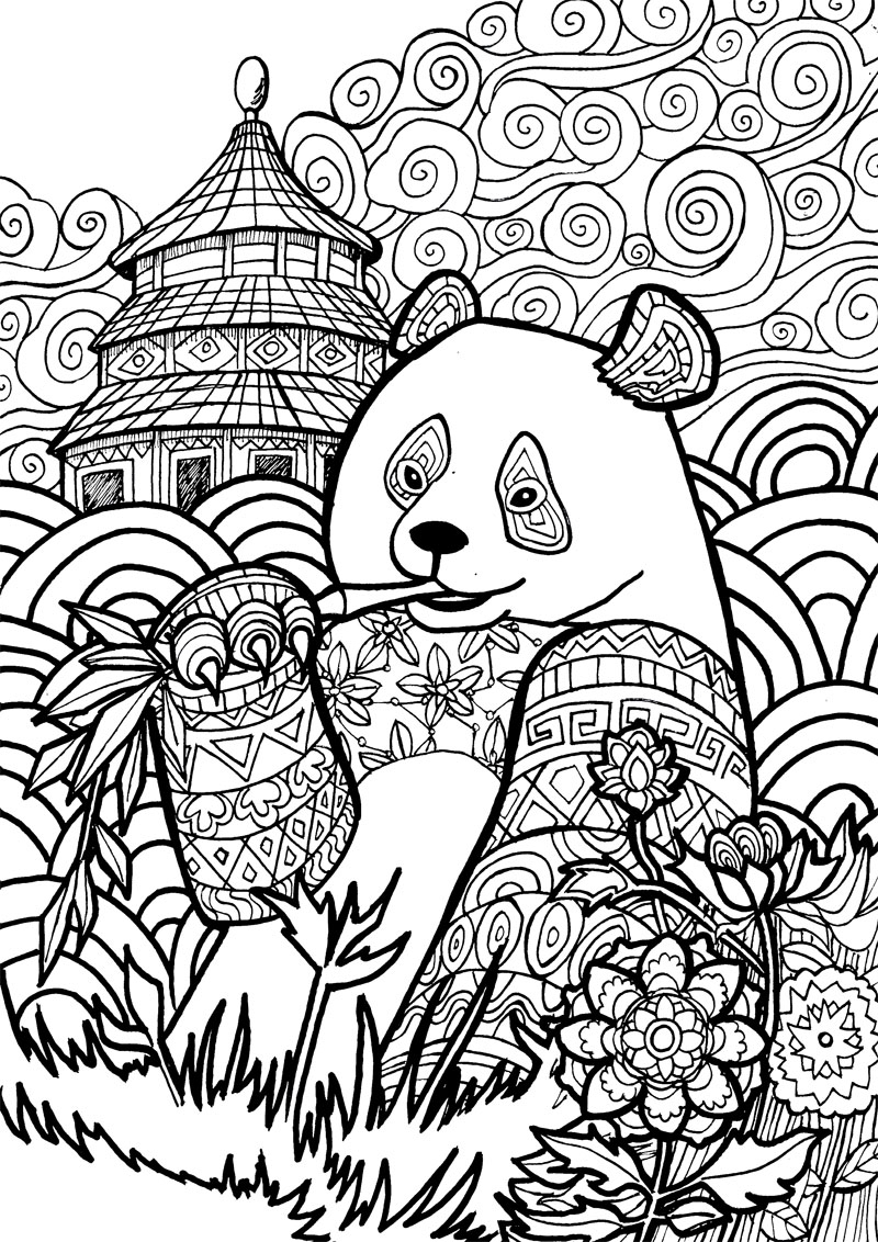 800x1132 Free Printable Coloring Pages For Adults And Animal And Calming