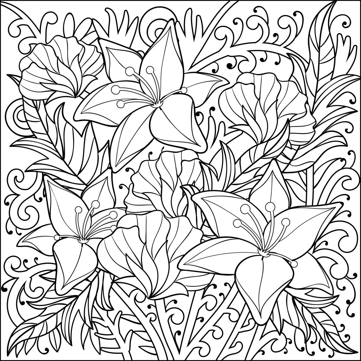 1200x1200 Weekly Printable Coloring Pages For Adults