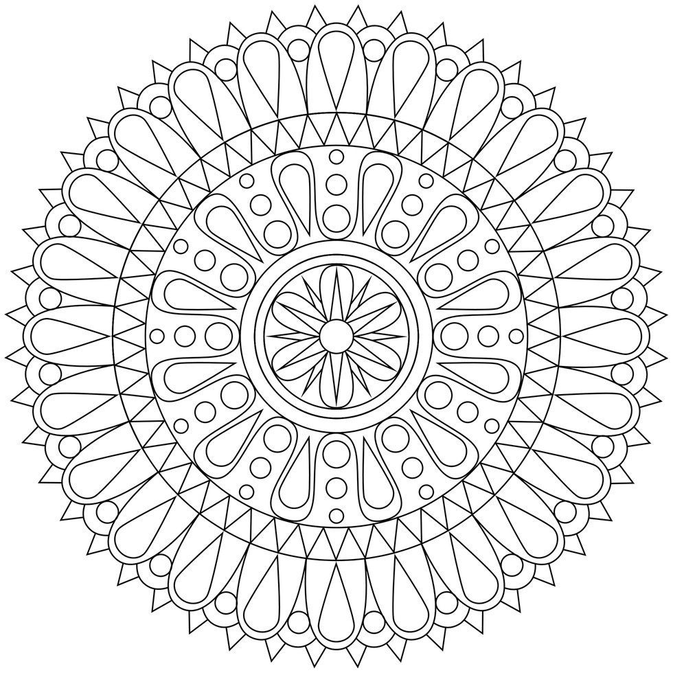 980x980 Adult Coloring Pages Easy Colouring In Fancy Photo Calming