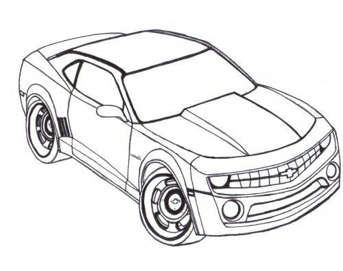 500x394 Camaro Coloring Pages To Print Coloring Page For Kids