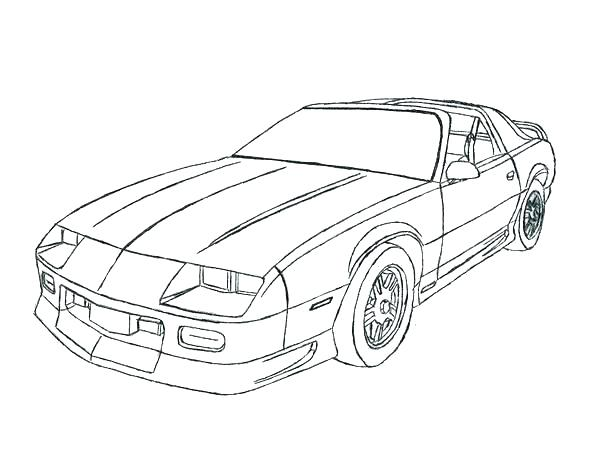600x466 Chevy Camaro Coloring Pages Printable Coloring Coloring Pages
