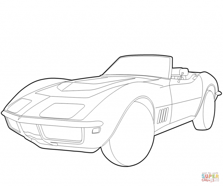 768x641 Chevy Corvette Coloring Pages Best Of Chevrolet Page Free