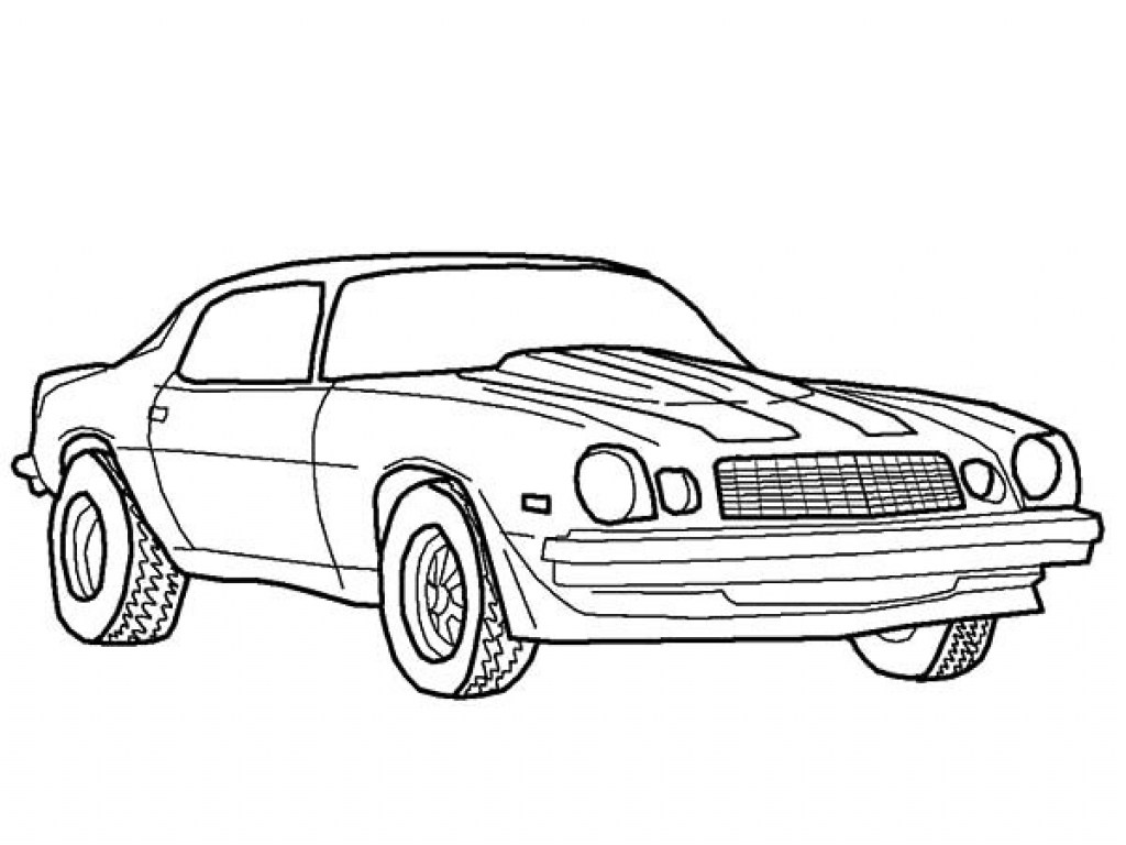 1024x768 Contemporary Bumblebee Camaro Coloring Pages Vignette
