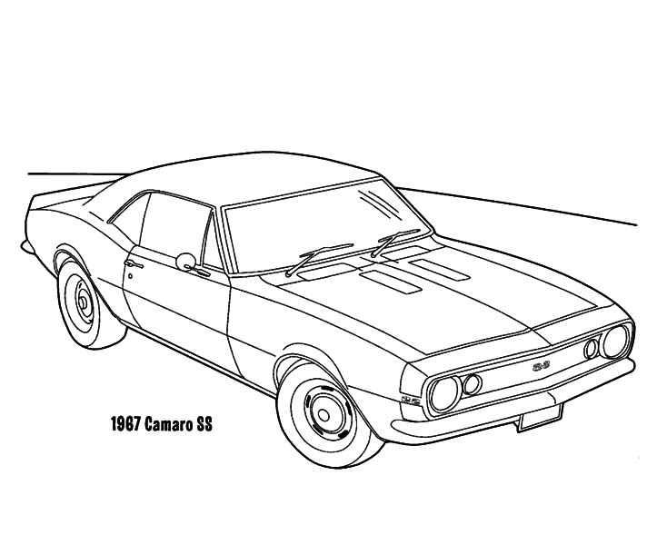 Camaro Ss Coloring Pages At Getdrawings Com Free For
