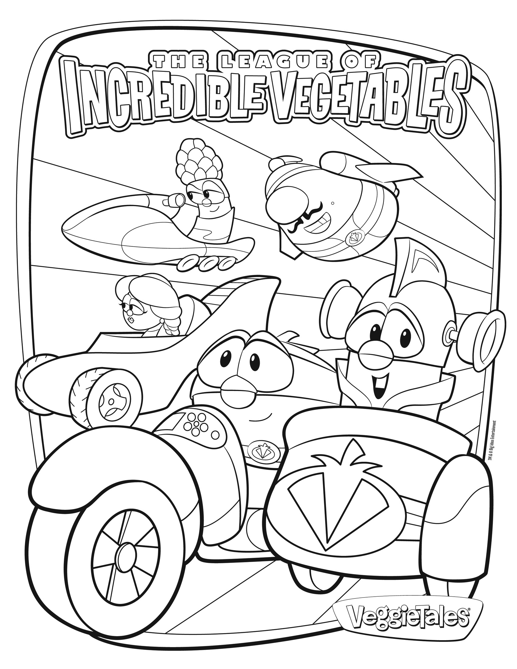 1700x2200 Veggie Tales Coloring Pages