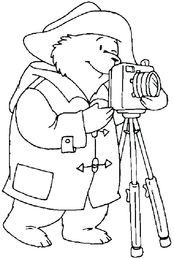 600x892 Camera Coloring Page With A Camera In Photography Coloring Page