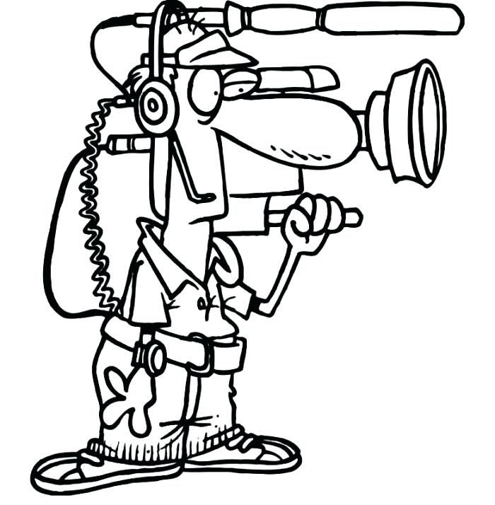 700x714 Camera Coloring Page With Wallpaper Medium Size Of Camera Coloring