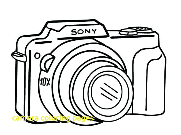 600x448 Camera Coloring Pages With Camera Coloring Pages Movie Camera