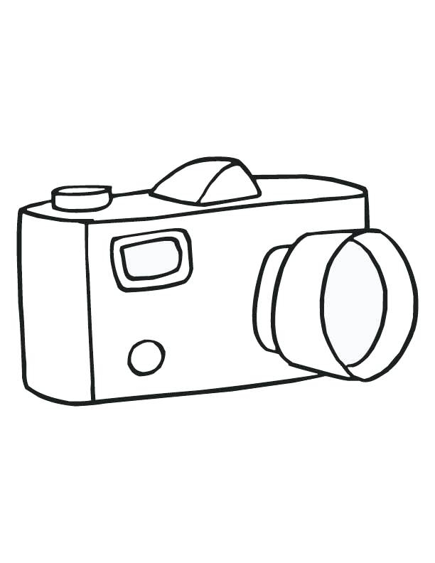 612x792 Coloring Picture Of A Camera Camera Coloring Page Camera Coloring