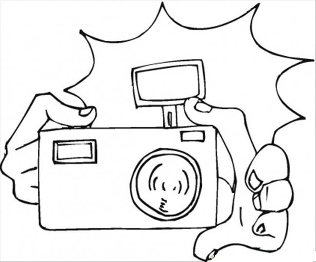 650x539 Flashing Camera Coloring Page Boys Pages