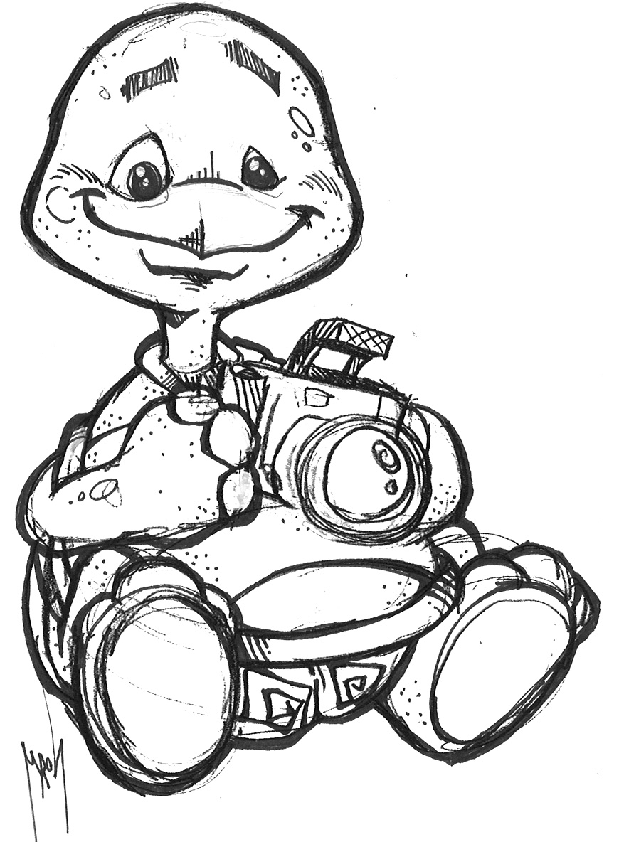 870x1184 Mickey Mouse With Camera Coloring Page Free Pages