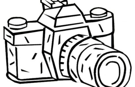 469x304 Camera Coloring Pages Just Colorings
