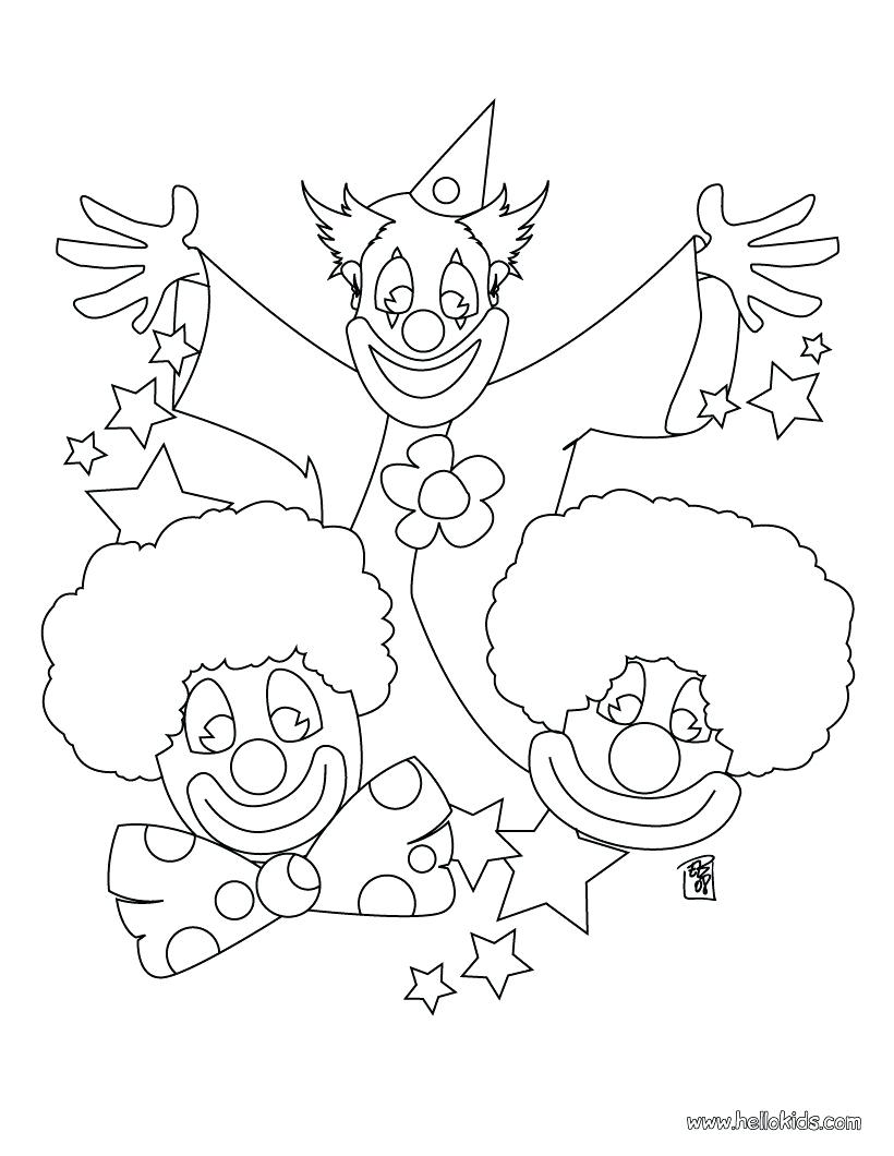 820x1060 Big Clown Pictures To Print Three Clowns Coloring Page Color Face