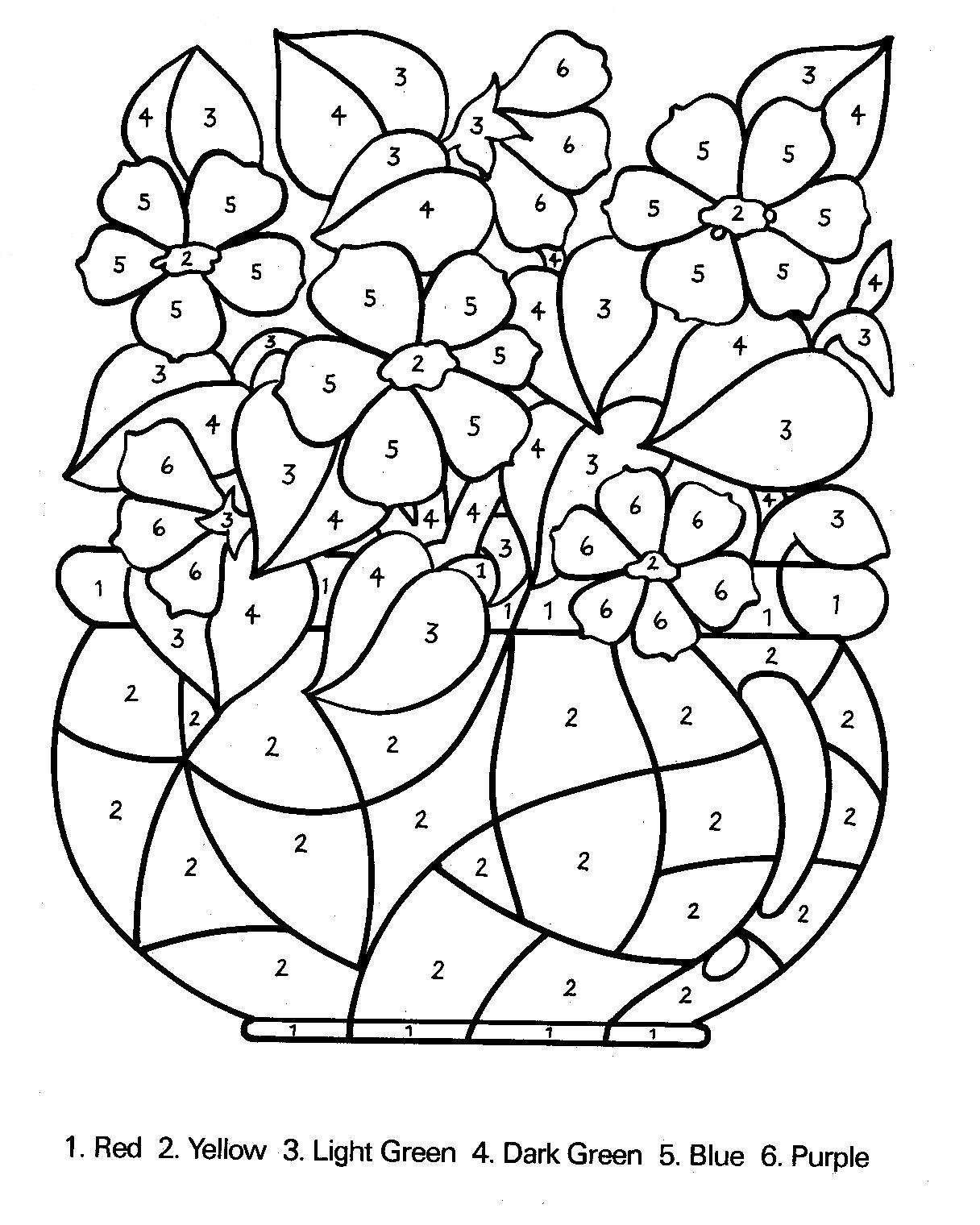 1216x1520 Number Coloring Pages