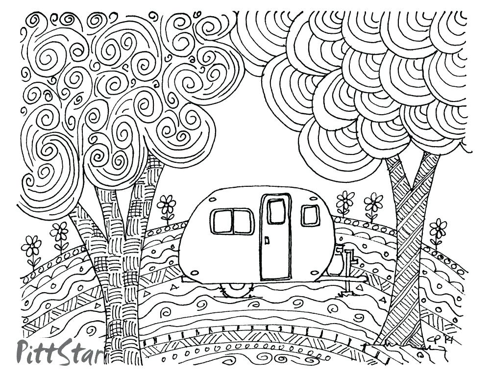 1000x773 Camper Coloring Pages Zoom Camper Van Coloring Pages Blocktradex