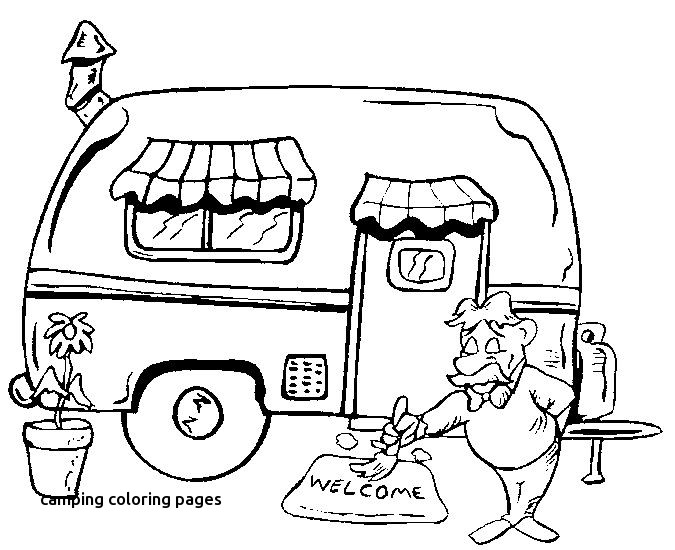 675x550 Camping Coloring Pages