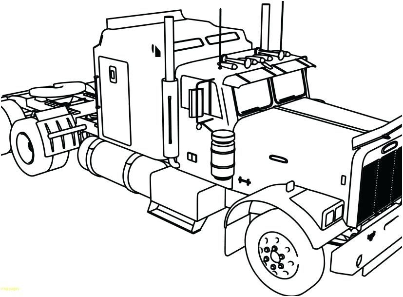 827x609 Coloring Pages Of Semi Trucks X Coloring Pages Semi Trucks