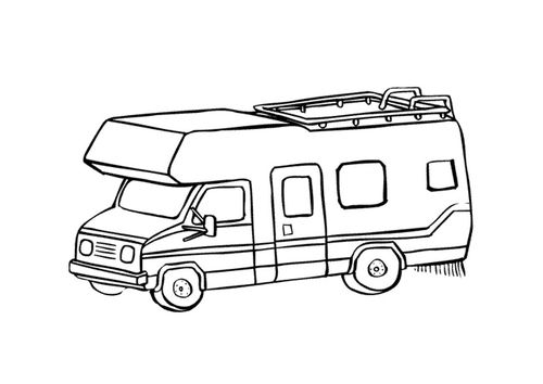 500x354 Coloring Page Camper Needlepoint, Cross Stitch And Embroidery