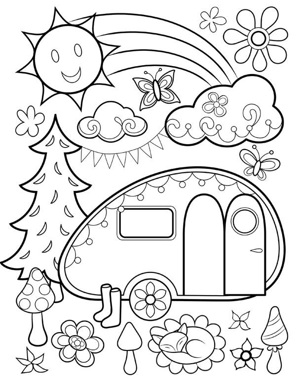 600x776 Free Coloring Page From Thaneeya Mcardle's Happy Campers Coloring