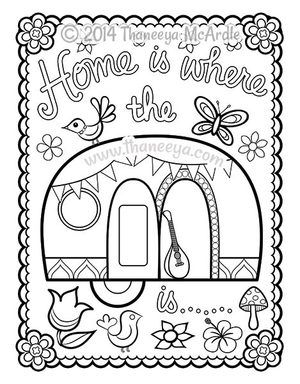 300x384 Happy Campers Coloring Book Blank Page