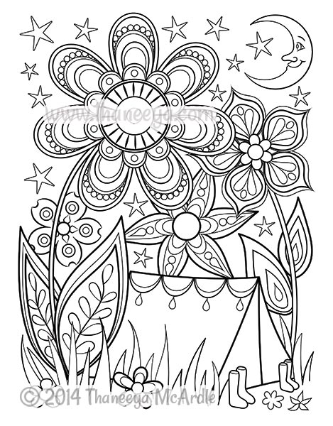 469x600 Happy Campers Coloring Book