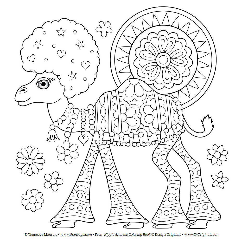 1006x1005 Hippie Coloring Pages Free Page Zentangle