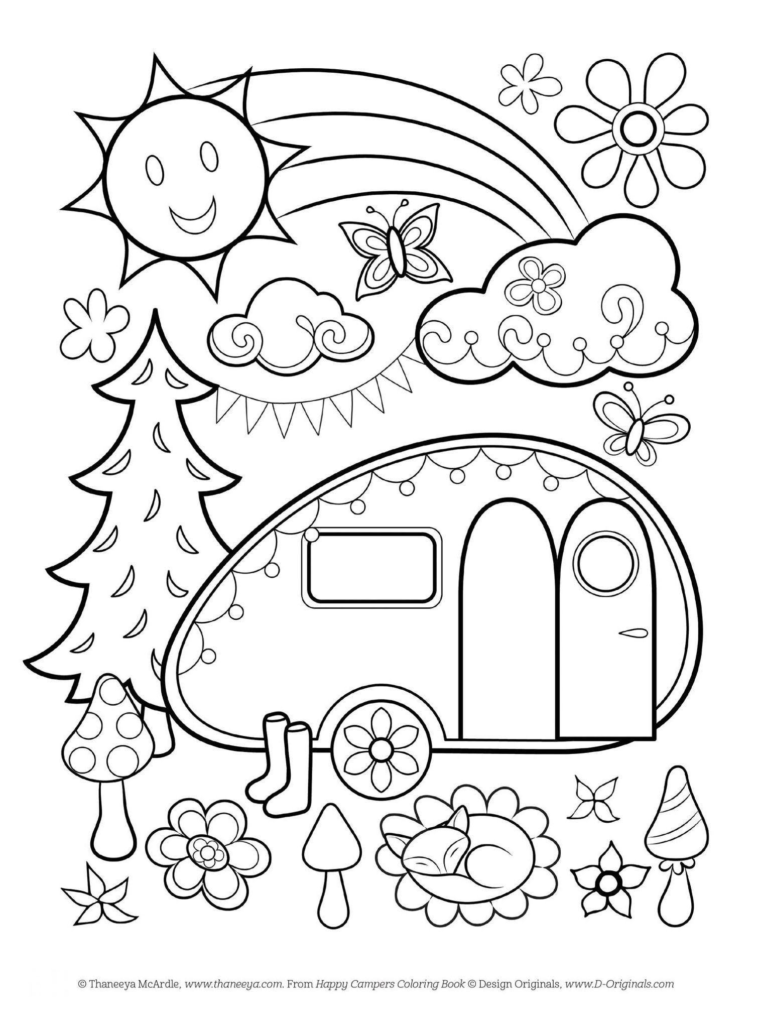 1508x2048 Free Happy Campers Coloring Page